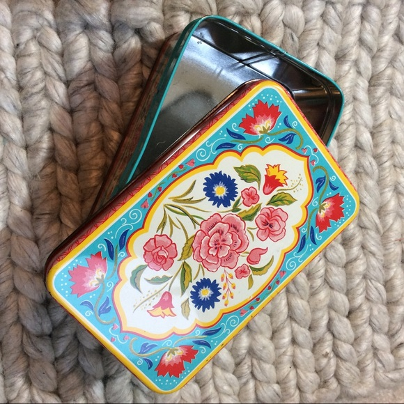 Vintage Other - Colorful Vintage Jewelry Tin